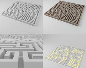 Maze 1 - 1851 blocks - labyrinth 3D model