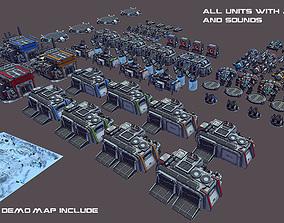 RTS Sci-Fi game assets v3 3D model
