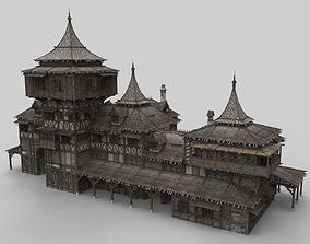 3D asset Medieval house fantasy 21