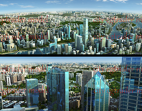 3D model Guangzhou Modern City Animation Scene