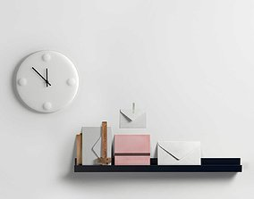 Composition with Envelope and Wall Clock 3D model