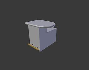 3D asset simple bar -end piece