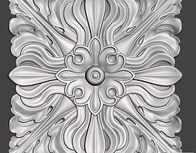 WoodCarving floral detail - 3d model 3