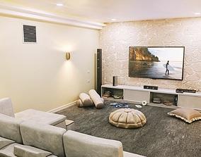 3D asset Modern Theatre Room