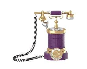 3D Retro style phone