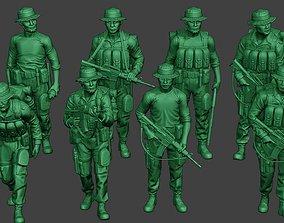 3D Modern Jungle Soldiers MJS1 Pack 4
