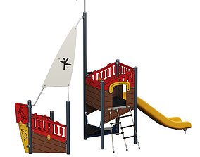 3D Kids playground Pirate carave