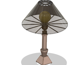 Lights Lampshade tabletop v021 for real 3D print