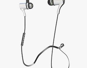 Black and White Earphones 3D model