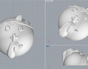 Emoji 2 pendant 3D print model