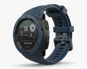 3D model Garmin Instinct Solar Tidal Blue