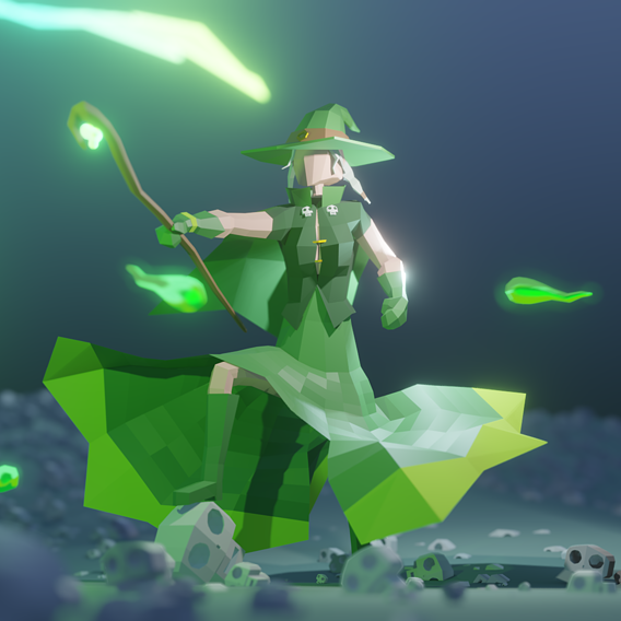 lowpoly witch