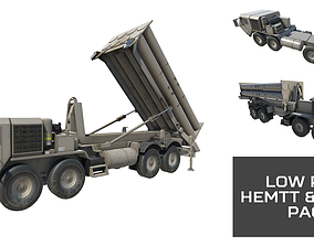 Low Poly HEMTT and THAAD Pack 3D model