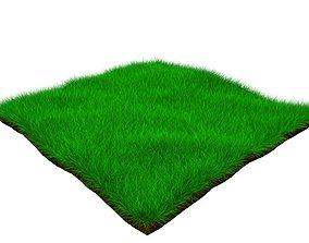 3D model turf soil Grass