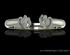 Panthere De Cartier Diamond Twin Head 3D printable model 1