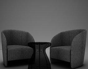 Modern Chair Set 3D