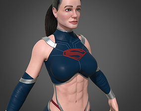 game-ready Super Girl 3D Female character