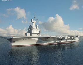3D model Charles de Gaulle aircraft carrier