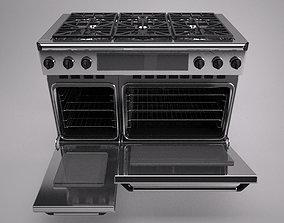 48 inch gas range cooker 3D model
