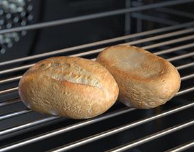 3D model Schnitt Bread Roll Photoscan