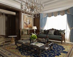 3D model textile luxury apartment