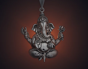 necklace Ganesha 35 mm pendant 3D print model