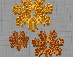 Cookie Cutter Snowflake Copo de 3D printable model 2