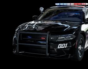 3D asset UE4 2016 Dodge Charger Pursuit Hellcat with