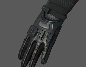 Gloves military combat soldier armor scifi 3D model