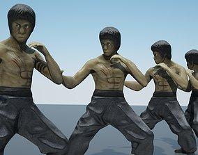 3D model Bruce Lee kung