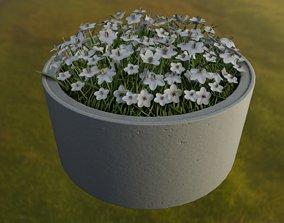 3D model Concrete Pipe Pot 1500mm with White Version 2