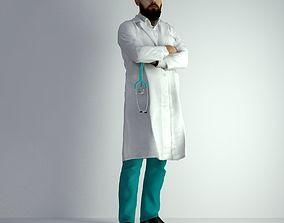 3D Scan Man Doctor 026 model