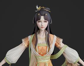 Chinese beauty Woman 3D asset 5