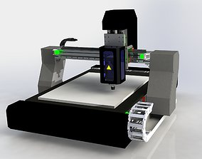 CNC ROUTER MACHINE DESIGN 3D model