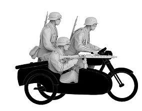 3D print model german motorcycle team machine