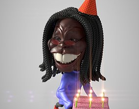 Whoopi Goldberg 3D caricature 3D print model