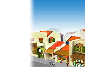3D asset Old House Cartoon package