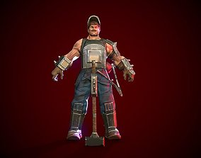 Low-poly model of the character Heavy Raymond realtime