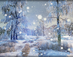 3D asset Winter Nature