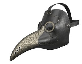 Antique Plague Mask 3D