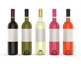 3D model Wine bottles solidworks