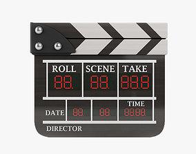 3D asset Wood Film clapperboard