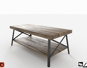 3D asset Industrial Cocktail Table