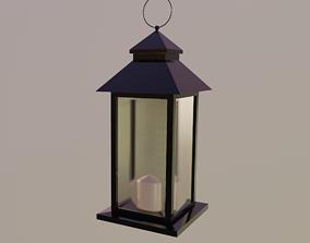Outdoor Lantern LOW POLY 3D asset