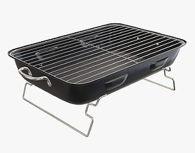 Charcoal portable steel grill bbq 3D model