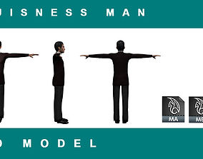low-poly AS Buisness Man 3d model Game ready