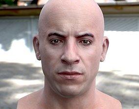 game-ready 3d model Vin Diesel head