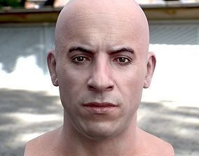 game-ready 3d model Vin Diesel head