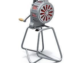 3D model Hand crank fire siren