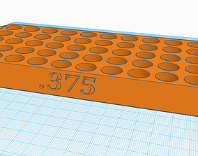 375 Reloading Tray with handles 3D printable model